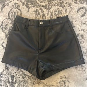 F21 Faux Leather Shorts